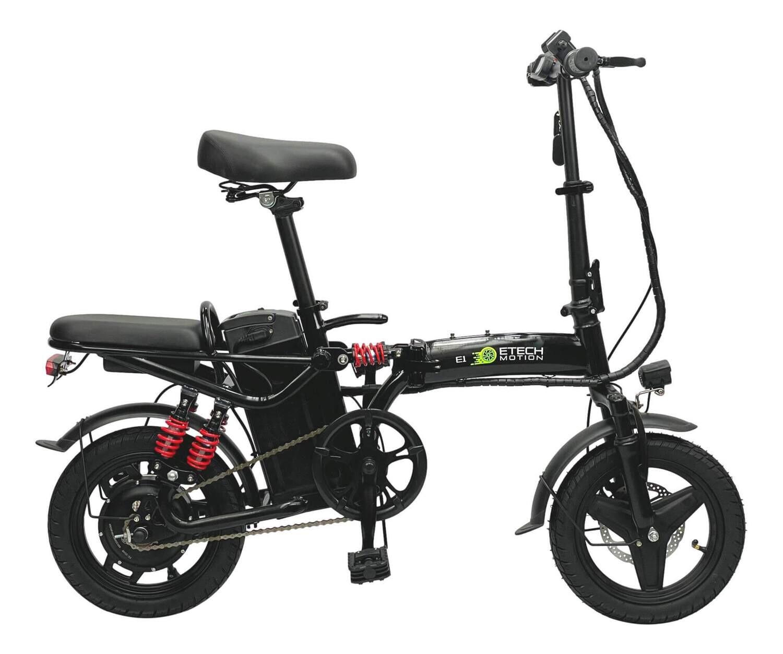 "E1S Electric Bicycle Folding eBike 14"" 400W 16Ah Battery Long-Range Heavy Duty Bike"