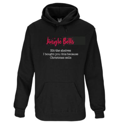 Black Christmas hoodie - free UK shipping