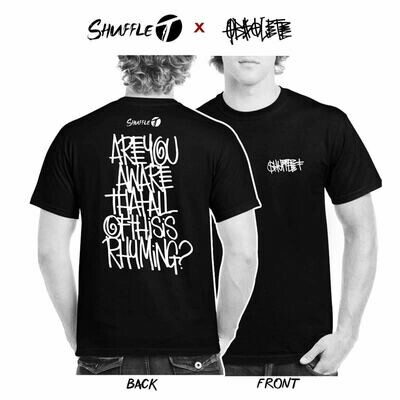 PRE-ORDER MEDIUM Shuffle T x Obsolete shirts in black