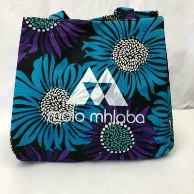 Flower print handbag