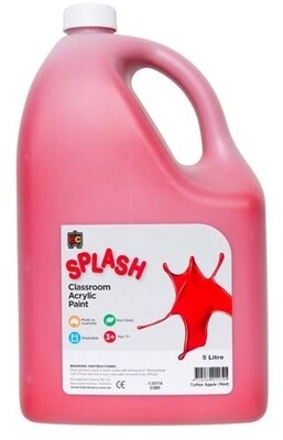 Splash Classroom Acrylic 5L Toffee Apple (Red)