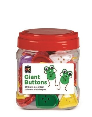 Giant Bright Buttons Assorted Jar 500g