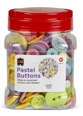 Pastel Buttons Assorted Jar 400g