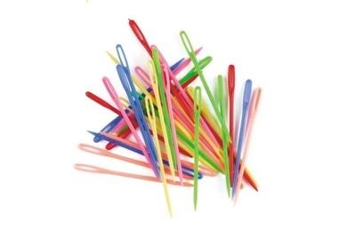 Plastic Needles 32pcs 75mm Long Multi Coloured