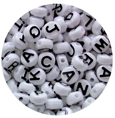Pony Beads Alphabet Mixed 350pc 10mm Diameter
