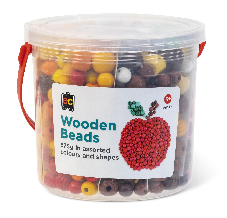 Wooden Beads Assorted Jar 575grams