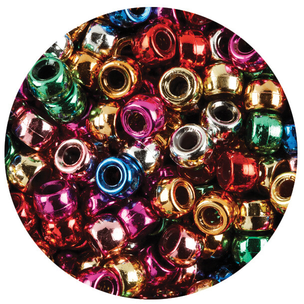 Pony Beads Metallic 1000pc