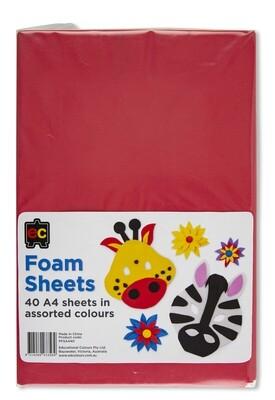 Foam Sheets A4 Packet 40