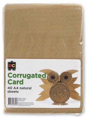 Corrugated Card Natural Colours A4 Packet 40