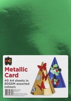 Metallic Card A4 Packet 40