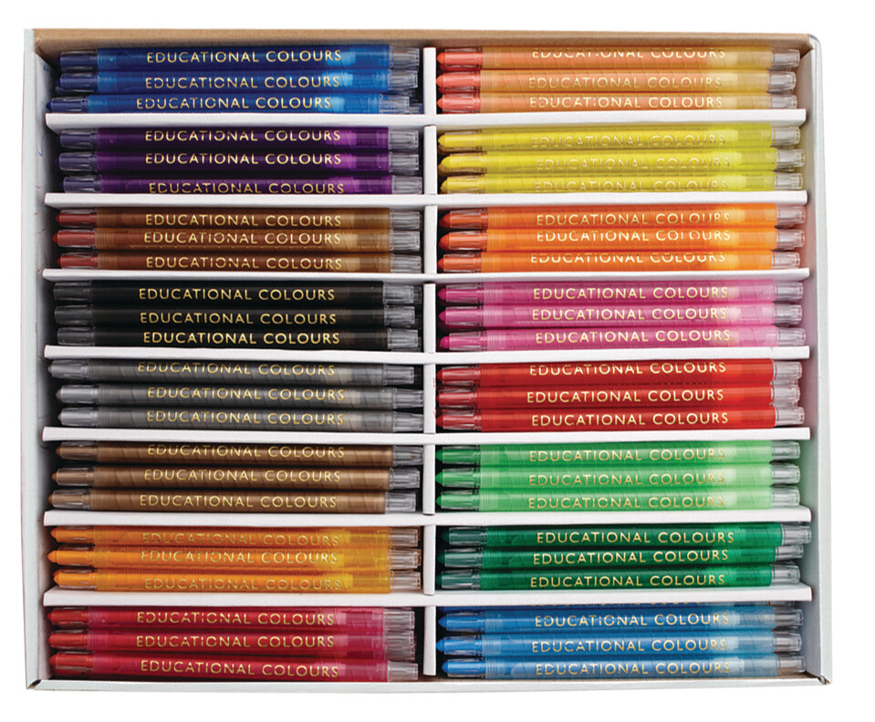 Twist-it Crayons School Pack 240pc