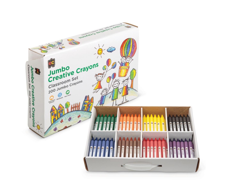Jumbo Crayons Box 200