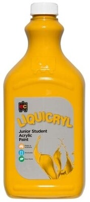 Liquicryl Junior Student Acrylic 2L Yellow Ochre