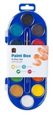 Paint Box Clear Lid 12 Disc