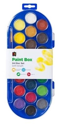 Paint Box Clear Lid 22 Disc