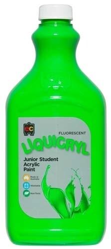 Fluorescent Liquicryl Junior Acrylic 2L Green