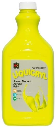 Fluorescent Liquicryl Junior Acrylic 2L Yellow