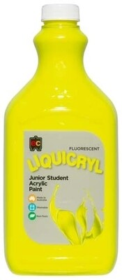 Fluorescent Liquicryl Junior Acrylic 2L Yellow