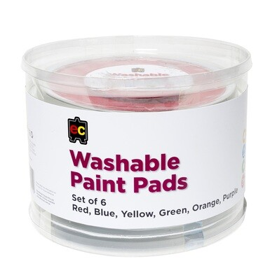Paint Stamper Pad Assorted Yl,Bl,Rd,Or,Pur,Gr 15cm