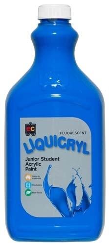Fluorescent Liquicryl Junior Acrylic 2L Blue