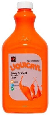 Fluorescent Liquicryl Junior Acrylic 2L Orange