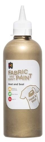 Fabric & Craft Paint 500 ml Gold