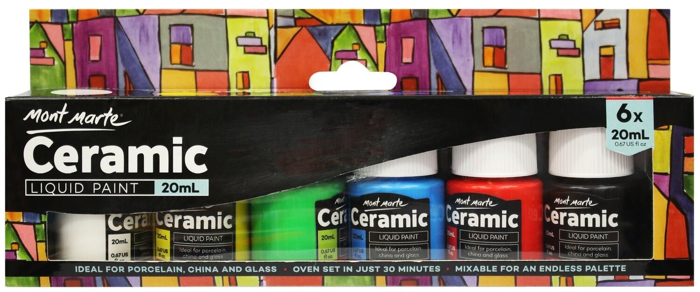 Ceramic Liquid Paint 6pce x 20ml