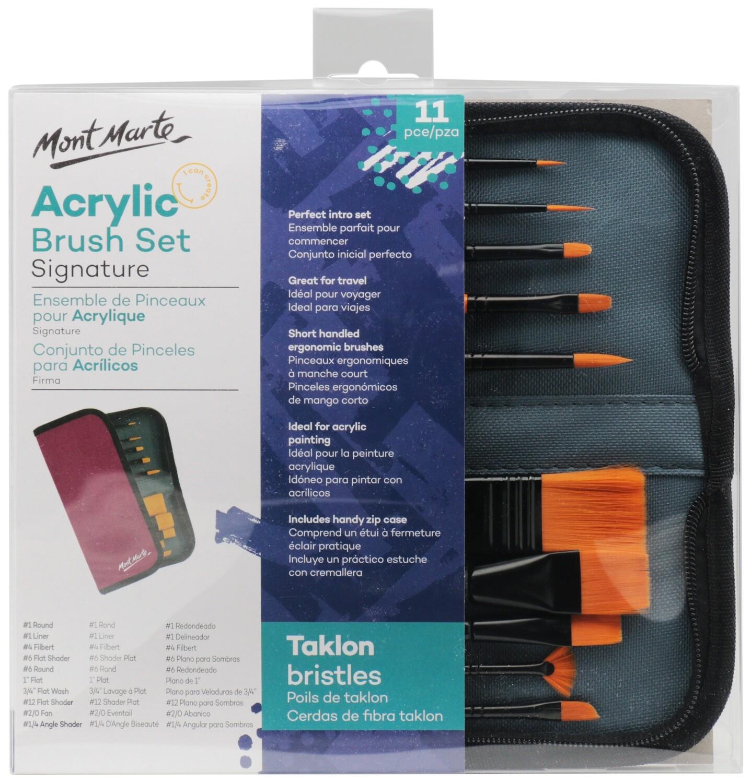 Signature Taklon Brush Set in Wallet 11pce- Acrylic