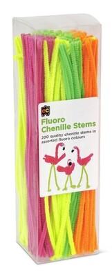 Chenille Stems Fluoro 30cm Packet 200