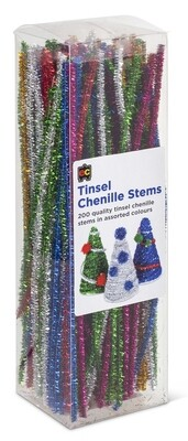 Chenille Stems Tinsel 30cm Packet 200
