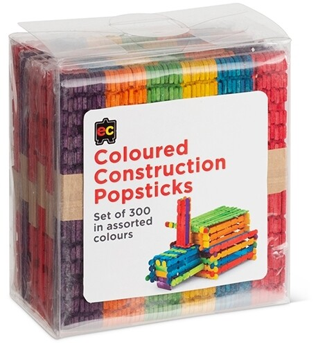 Construction Popsticks Coloured Packet 300