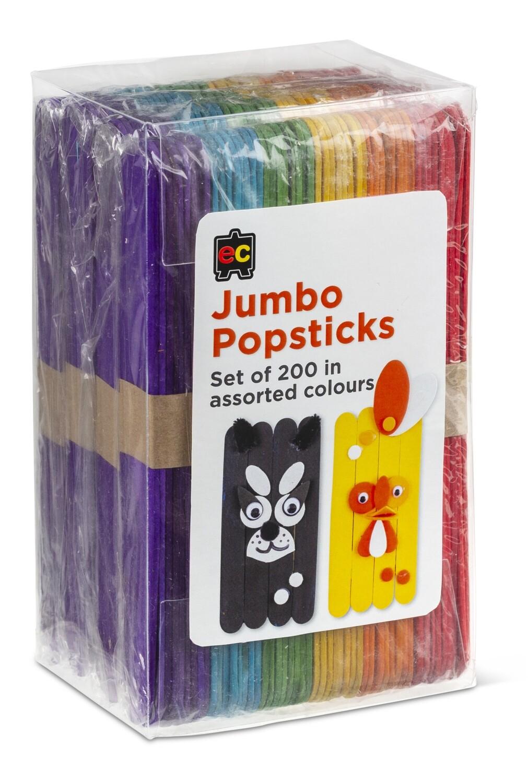 Jumbo Popsticks Coloured Packet 200