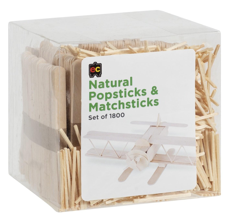Popsticks and Matchsticks Natural Packet 1800