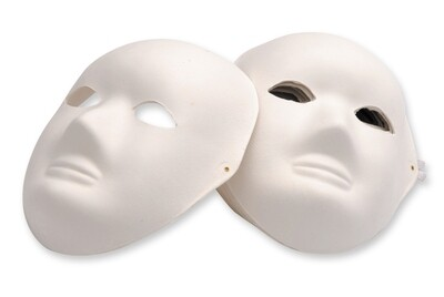 Full Mask Paper Mache with Elastic Pk of 24
