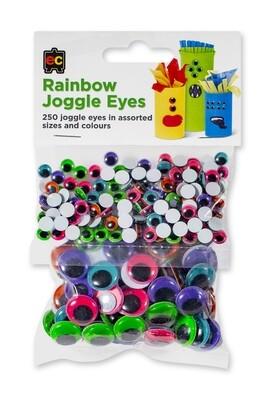 Rainbow Joggle Eyes Pack 250