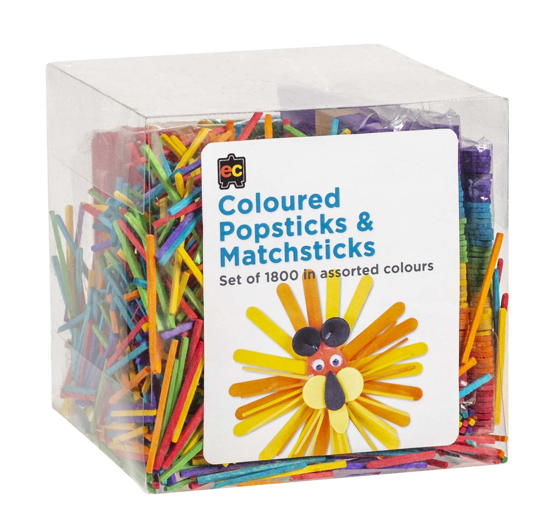 Popsticks and Matchsticks Coloured Packet 1800