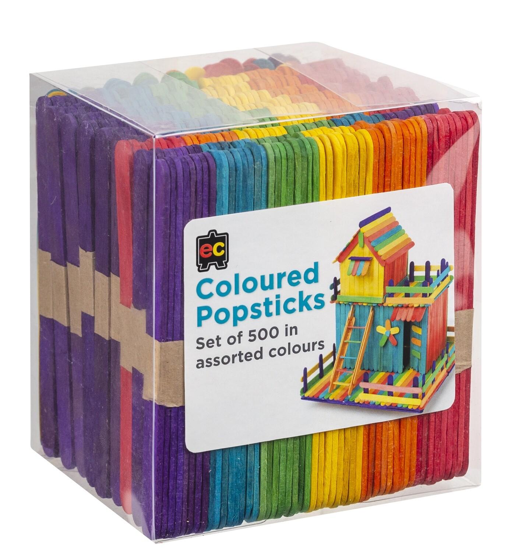 Popsticks Coloured Packet 500