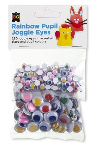 Rainbow Pupil Joggle Eyes Assorted Pack 250