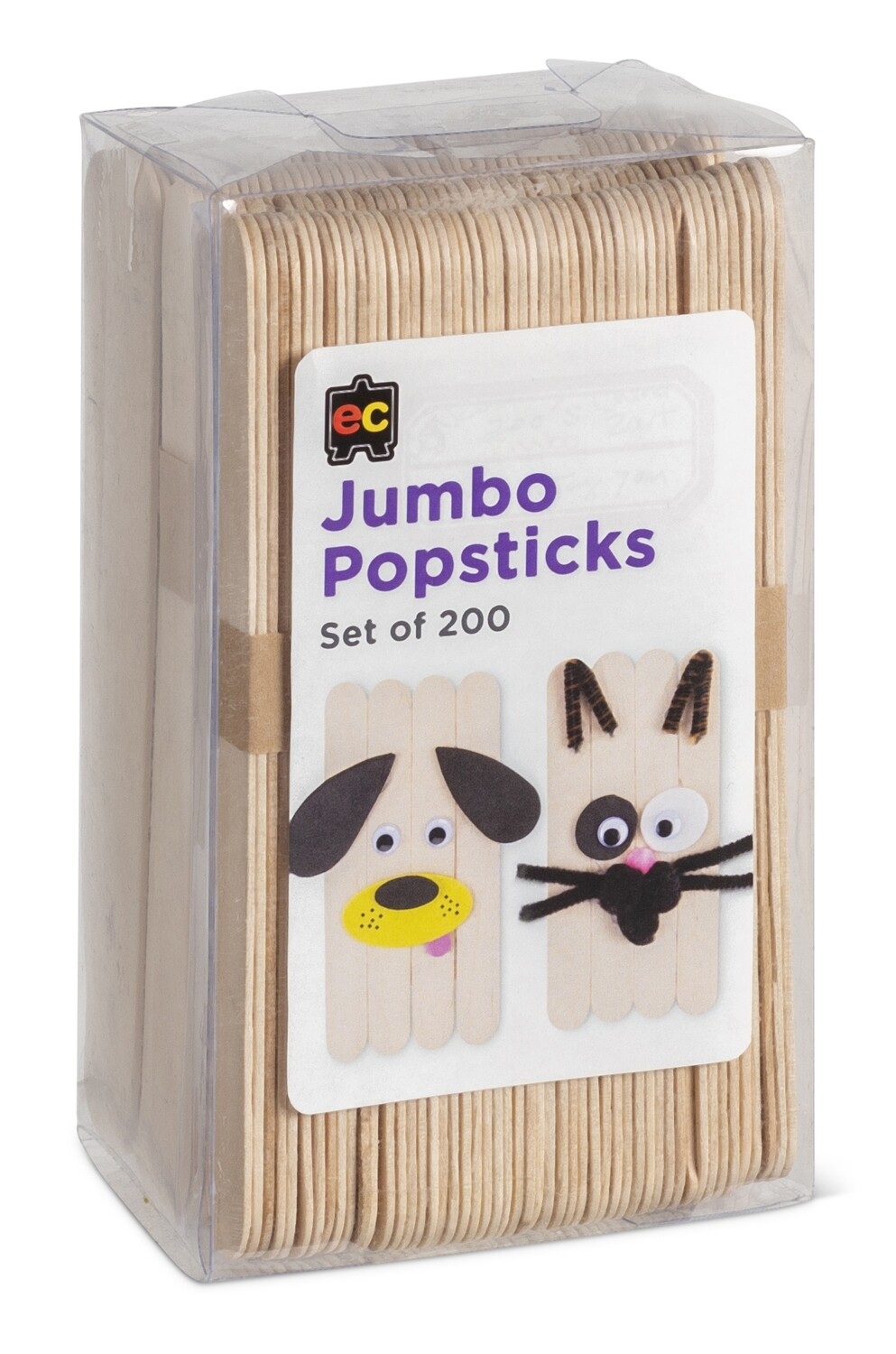 Jumbo Popsticks Natural Packet 200