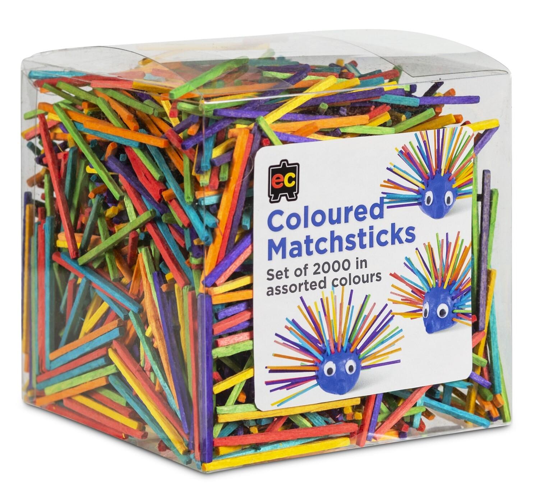 Matchsticks Coloured Packet 2000