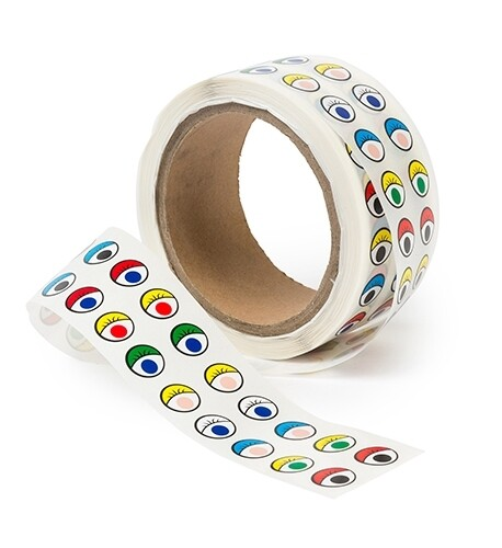 Adhesive Eyes Assorted Colours Roll of 2000
