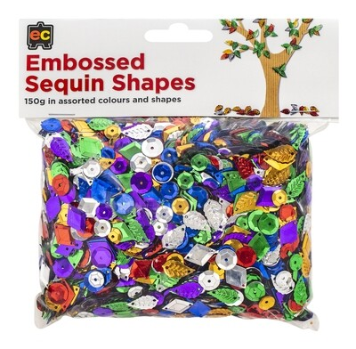 Embossed Sequins Assorted Shapes 150gm