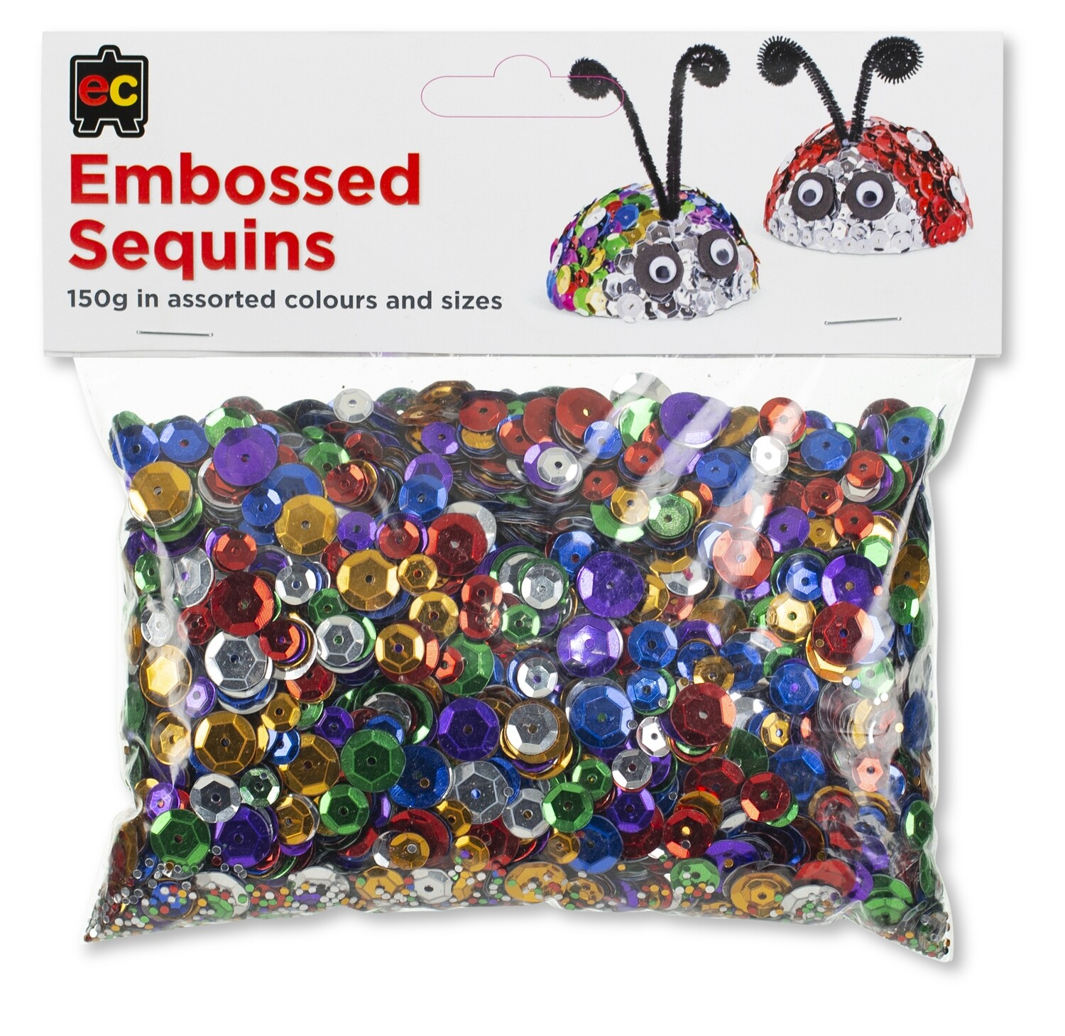 Embossed Sequins Assorted 150gm
