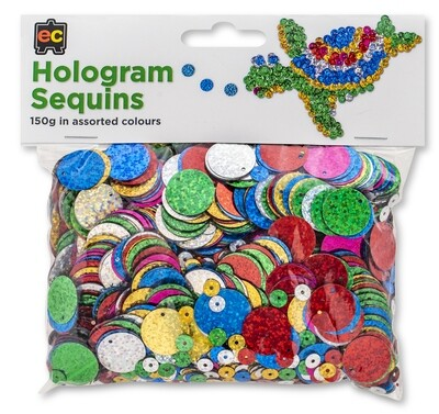Hologram Sequins Assorted 150gm