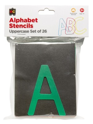 Alphabet Upper Case Stencils Pkt 26(NSW & ACT)