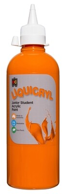 Liquicryl Junior Student Acrylic 500ml Orange