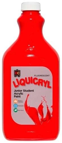 Fluorescent Liquicryl Junior Acrylic 2L Scarlet