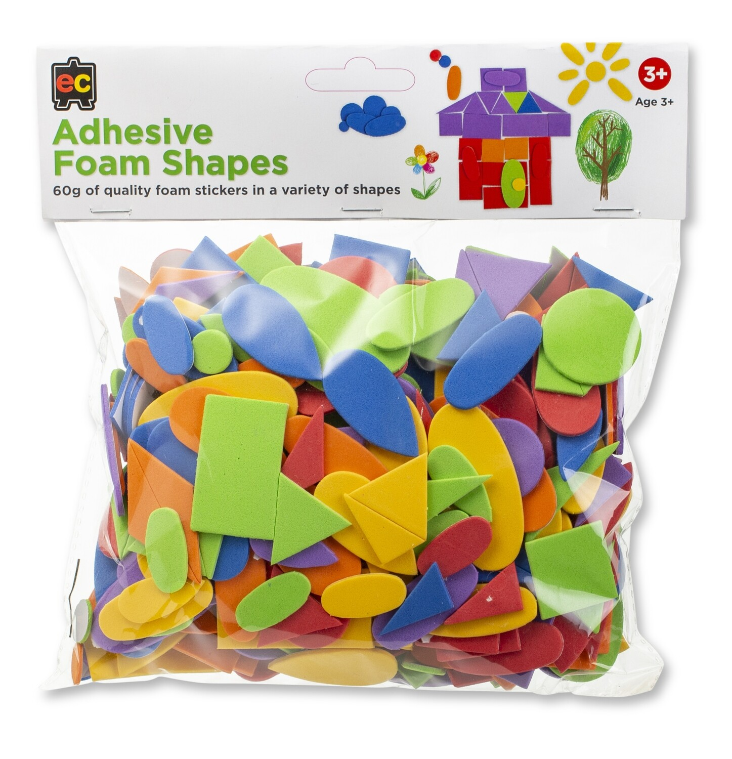 Adhesive Foam Shapes 60g