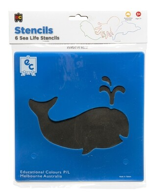 Sea Life Stencil Set of 6