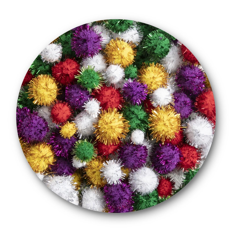 Pom Poms Glitter pack of 200